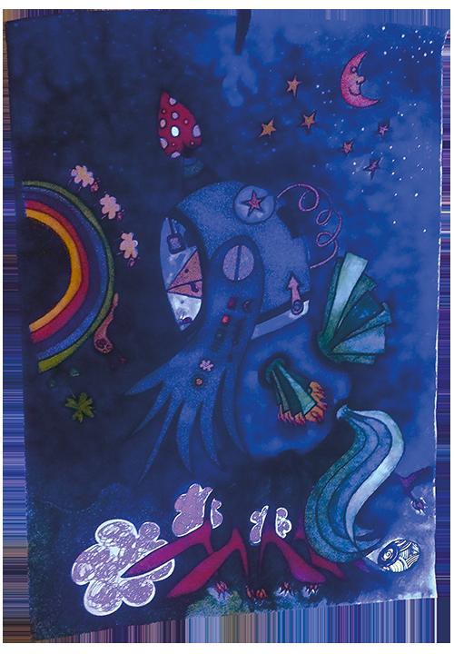 """""""Phönix"""" im Schwarzlicht wundertier-Art, Bild von Annette Schrof"""